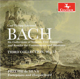 Carl Philipp Emanuel Bach: Third Collection of Sonatas, Free Fantasias and Rondos for Connoisseurs and Amateurs, WQ 57 (Centaur)