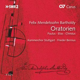 Felix Mendelssohn-Bartholdy: Oratorien Paulus, Elias, Christus (4CD, Carus)