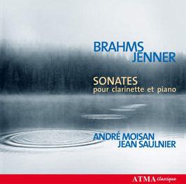 Johannes Brahms, Gustav Jenner: Sonates pour clarinette et piano (Atma)