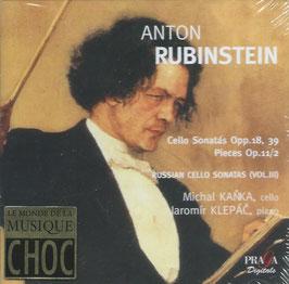 Anton Rubbinstein: Cello Sonatas Opp. 18. 39, Pieces Op. 11/2 (2SACD, Praga)