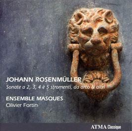 Johann Rosenmüller: Sonate a 2, 3, 4 è 5 stromenti, da arco & altri (Atma)