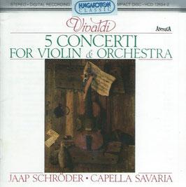 Antonio Vivaldi: 5 Concerti for Violin & Orchestra (Hungaroton)