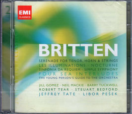 Benjamin Britten: Serenade for Tenor, Horn & Strings, Les Illuminations, Nocturne, Sinfonia da Requiem, Simple Symphony, Four Sea Interludes, The Young People's Guide (2CD, EMI)