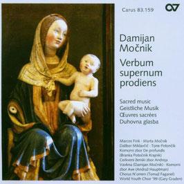 Damijan Mocnik: Verbum supernum prodiens, Sacred music (Carus)