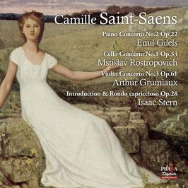 Camille Saint-Saëns: Piano Concerto No. 2, Cello Concerto No. 1, Violin Concerto No. 3, Introduction & Rondo capriccioso (SACD, Praga)