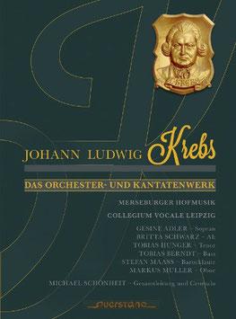 Johann Ludwig Krebs: Das Orchester- und Kantatenwerk (4CD, Boek, Querstand)