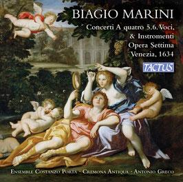 José Maríni: Concerti A quattro 5, 6. Voci & Instromenti, Opera Settima, Venezia 1634 (2CD, Tactus)