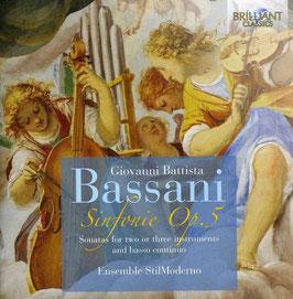 Giovanni Battista Bassani: Sinfonie Op. 5 (2CD, Brilliant)