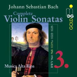 Johann Sebastian Bach: Violin Sonatas 3 (MDG)