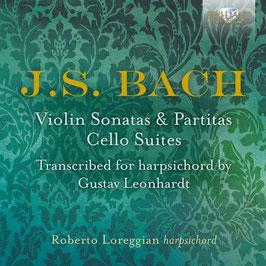 Johann Sebastian Bach: Violin Sonatas & Partitas, Cello Suites, Transcribed for harpsichord by Gustav Leonhardt (3CD, Brilliant)