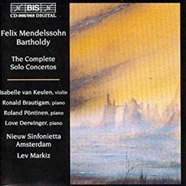 Felix Mendelssohn-Bartholdy: The Complete Solo Concertos (4CD, BIS)