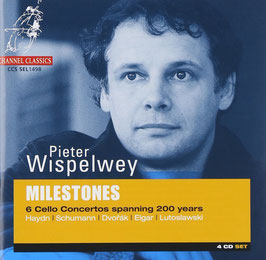 Milestones: 6 Cello Concertos spanning 200 years, Haydn, Schumann, Dvorak, Elgar, Lutoslawski (4CD, Channel Classics)