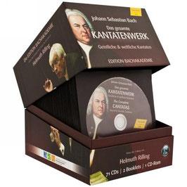 Johann Sebastian Bach: Das gesamte Kantatenwerk, Geistliche & weltliche Kantaten, Edition Bachakademie (71CD, CD-Rom, Hänssler)