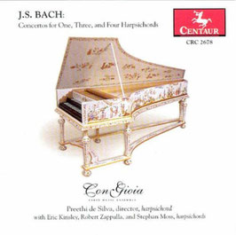 Johann Sebastian Bach: Concertos for One, Three and Four Harpsichords (Centaur)