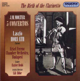 Johann Molter: 5 Concertos for Clarinet, Strings and Basso Continuo (Hungaroton)