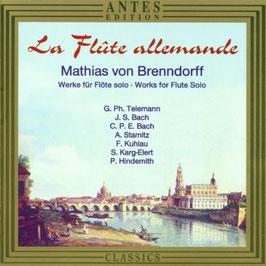 La Flute allemande, works for flute solo (Antes)