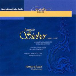 Ignazio Sieber: 6 Sonaten für Blockflöte und Basso Continuo (Coviello)