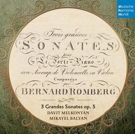 Andreas Jakob Romberg: Trois grandes Sonates pour Le Forte-Piano avec Accomp. de Violoncelle ou Violon (Deutsche Harmonia Mundi)