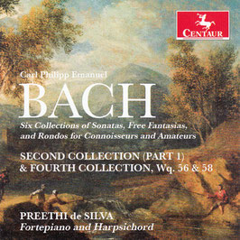 Carl Philipp Emanuel Bach: Second & Fourth Collection of Sonatas, Free Fantasias and Rondos for Connoisseurs and Amateurs, WQ 56 & 58 (Centaur)