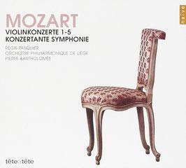 Wolfgang Amadeus Mozart: Violinkonzerte 1-5, Konzertante Symphonie (2CD, Naïve)