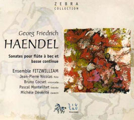 Georg Friedrich Händel: Sonates pour flute à bec et basse continue (ZigZag)