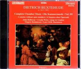 Dieterich Buxtehude: 6 Sonatas without opus numbers (DaCapo)