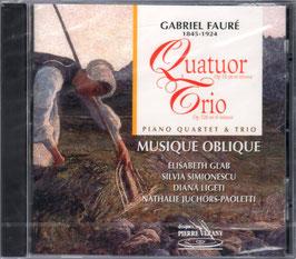 Gabriel Fauré: Quatuor Op. 15 en ut mineur, Trio Op. 120 en ré mineur (Pierre Verany)