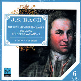 Johann Sebastian Bach: The Well-Tempered Clavier, Toccatas, Goldberg Variations (6CD, Virgin Classics)