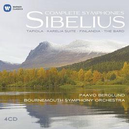 Jean Sibelius: Complete Symphonies, Tapiola, Karelia Suite, Finlandia, The Bard (4CD, Warner)