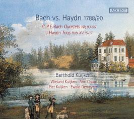 Carl Philipp Emanuel Bach: Quartets Wq 93-95, Joseph Haydn: Trios Hob. XV:15-17, Bach vs. Haydn 1788/90 (2CD, Accent)