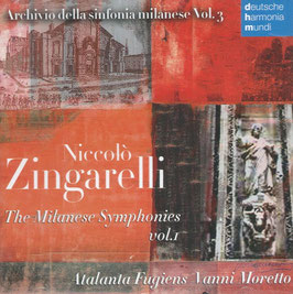 Niccolò Zingarelli: The Milanese Symphonies vol. 1 (Deutsche Harmonia Mundi)