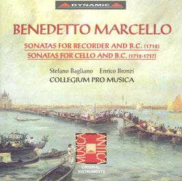 Benedetto Marcello: Sonatas for Recorder and B.C. 1712, Sonatas for Cello and B.C. 1712-1717 (2CD, Dynamic)