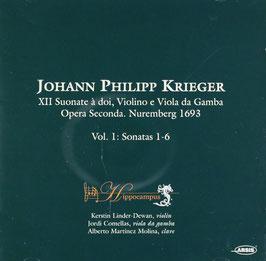 Johann Philipp Krieger: XII Suonate à doi, Violino e Viola da Gamba, Opera Seconda. Nuremberg 1693, Vol. 1: Sonatas 1-6 (Arsis)
