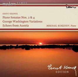 Ernst Krenek: Piano Sonatas Nos. 2 & 4, George Washingon Variations, Echoes from Austria (Phoenix)