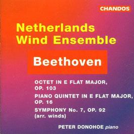 Ludwig van Beethoven: Octet in E flat major op. 103, Piano Quintet in E flat major op. 16, Sypmhony no. 7, op. 92 arr. winds (Chandos)