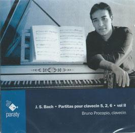 Johann Sebastian Bach: Partitas pour clavecin 5, 2, 6 (Paraty)