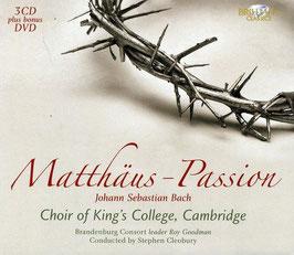 Johann Sebastian Bach: Matthäus-Passion (3CD, DVD, Brilliant Classics)