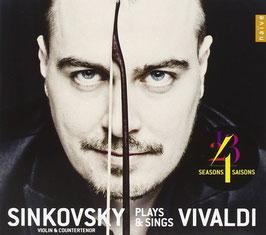 Antonio Vivaldi: 4 Seasons, Sinkovsky plays & sings Vivaldi (Naïve)