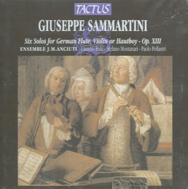 Giuseppe Sammartini: Six Solos for German Flute, Violin or Hautboy (Tactus)