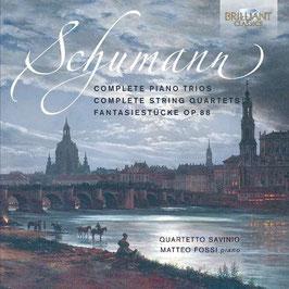 Robert Schumann: Complete Piano Trios, Complete String Quartets, Frantasiestücke Op. 88 (3CD, Brilliant)