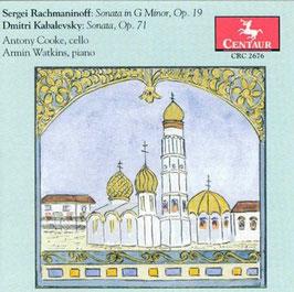 Sergei Rachmaninoff: Sonata in G Minor Op. 19, Dmitri Kabalevsky: Sonata Op. 71 (Centaur)
