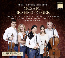 Wolfgang Amadeus Mozart, Johannes Brahms, Max Reger: Klarinettenquintette (2CD, Berlin)