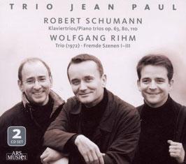 Robert Schumann: Klaviertrios op. 63, 80, 110, Wolfgang Rihm: Trio 1972, Fremde Szenen I-III (2CD, Ars Musici)