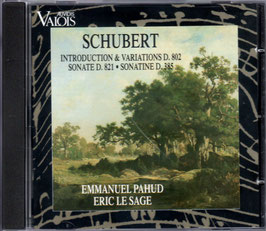 Franz Schubert: Introduction & Variations D. 802, Sonate D. 821, Sonatine D. 385 (Auvidis Valois)