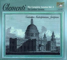 Muzio Clementi: The London Sonatas (Complete Sonatas Vol. 3) (3CD, Brilliant)