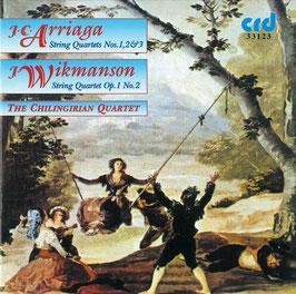 Juan Crisóstomo de Arriaga, Johan Wikmanson: String Quartets (2CD, CRD)