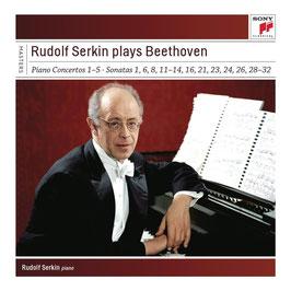 Ludwig van Beethoven: Rudolf Serkin plays Beethoven (Piano Concertos 1-5, 17 Sonatas, Diabelli-variations) (11CD, Sony)