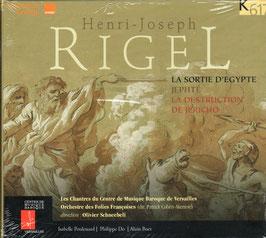Henri-Joseph Rigel: La Sortie d'Egypte, Jephté, La destruction de Jéricho (K617)