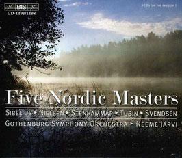 Five Nordic Masters: Sibelius, Nielsen, Stenhammar, Tubin, Svendsen (5CD, BIS)