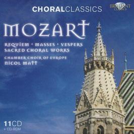 Wolfgang Amadeus Mozart: Requiem, Masses, Vespers, Sacred Choral Works (11CD, CD-rom, Brilliant)